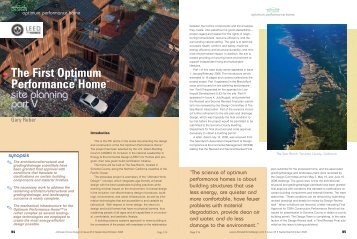 The First Optimum Performance Home