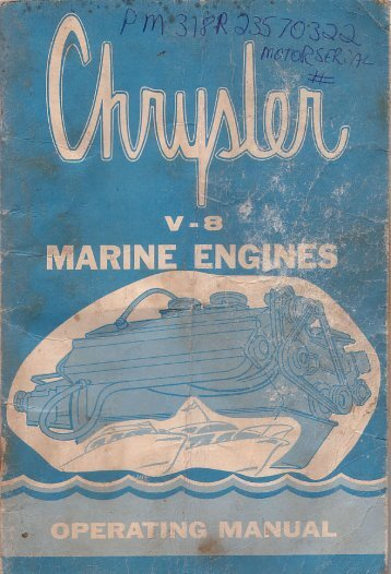 Chrysler V8 Marine Engine Manual (1967) - CorrectCraftFan.com