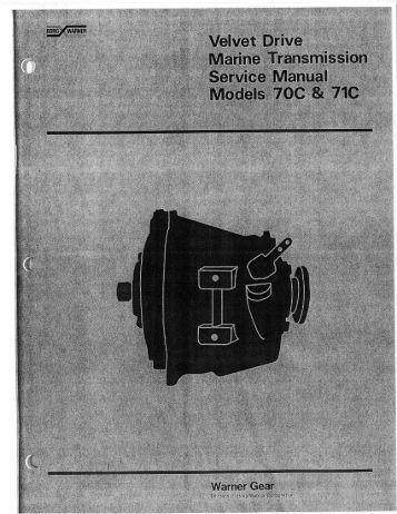Borg warner velvet drive service Manual