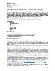 Referat fra fællesvirke møde d. 8. januar 2008 - Egebjerggård