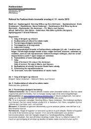 Fællesvirket Referat fra Fællesvirkets årsmøde onsdag d 31 marts 2010