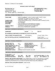 MSDS for EverGlow Photoluminescent TL300 Pigment. - Everglow.us