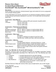 Product Data Sheet - EverGlow Aluminum Signs ... - Everglow.us
