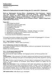 Referat fra Fællesvirkets årsmøde 22. marts 2011 - Egebjerggård