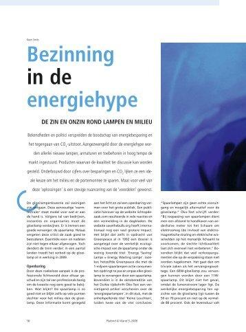 Bezinning in de energiehype
