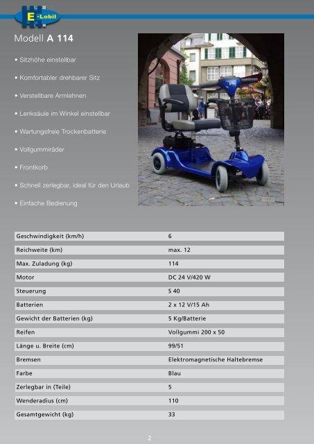 Katalog E-Lobil Elektrofahrzeuge