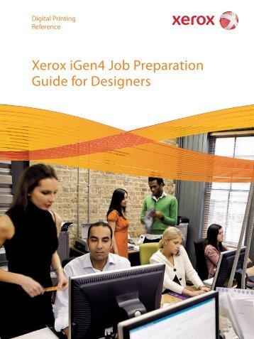 Xerox iGen4 Job Preparation Guide for Designers