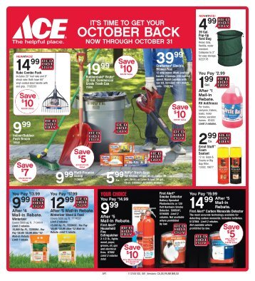Click this link to download a PDF of our October specials