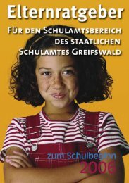 Elternratgeber Greifswald.indd - Ratgeber Schulbeginn