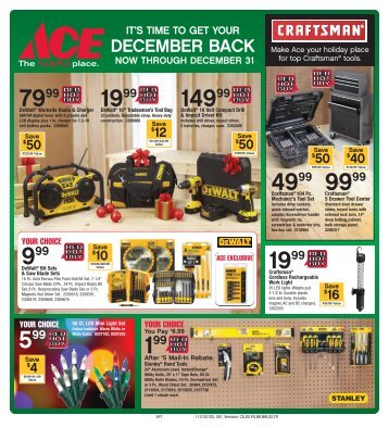 so grab our December flyer and come on in to check it out