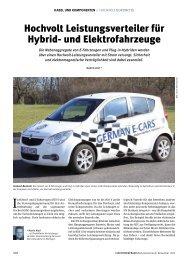 Hochvolt Leistungsverteiler für Hybrid- und Elektrofahrzeuge