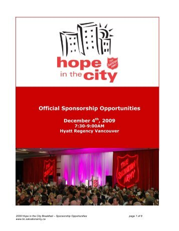 Official Sponsorship Opportunities