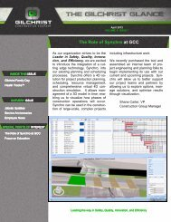 April 2012 - Gilchrist Construction Company, LLC