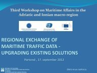REGIONAL EXCHANGE OF MARITIME TRAFFIC DATA - UPGRADING EXISTING SOLUTIONS