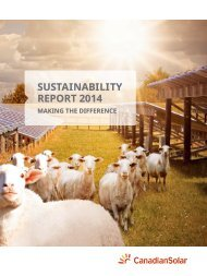 Canadian Solar - CSR Report 2014