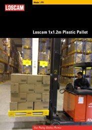Loscam 1x1.2m Plastic Pallet