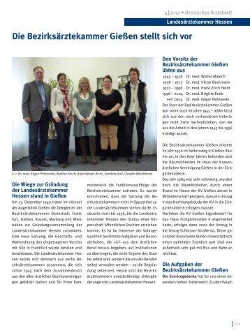 Die Bezirksärztekammer Gießen stellt sich vor - Landesärztekammer ...