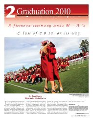 Afternoon ceremony sends M-A's Class of 2010 on ... - Almanac News