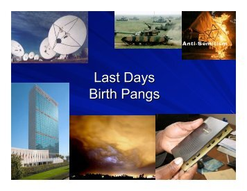 Last Days Birth Pangs