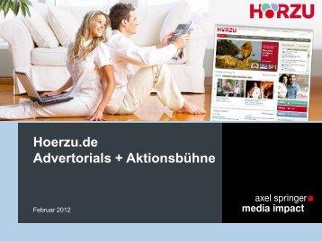 Premium-Advertorial hoerzu.de - Axel Springer MediaPilot
