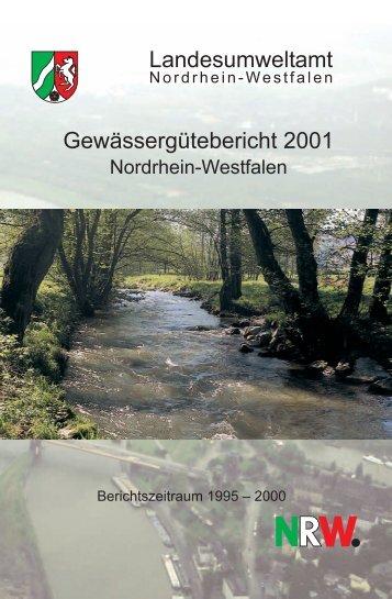 Gewässergütebericht 2001 Nordrhein-Westfalen - LANUV NRW