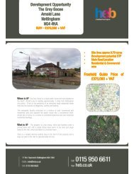 Development Opportunity The Grey Goose Arnold Lane Nottingham NG4 4HA
