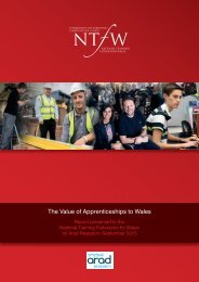 The Value of Apprenticeships to Wales