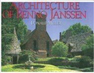 Page 1 Page 2 THE ARCHITECTURE oE BENNo JANSSEN by ...