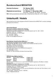 Unterkunft / Hotels - Bundesverband Mediation eV