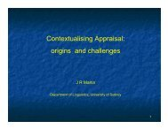 Contextualising Appraisal origins and challenges