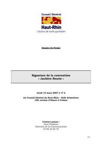 Signature de la convention « Jachère fleurie »