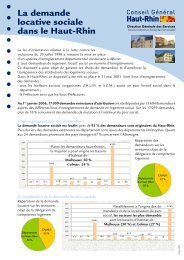 La demande locative sociale dans le Haut-Rhin