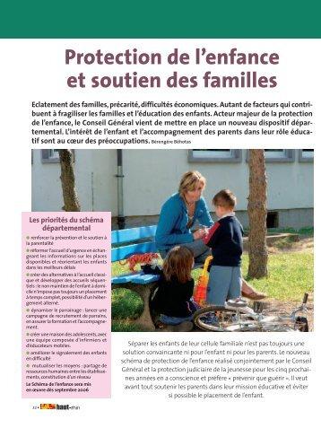 Protection de l'enfance et soutien des familles