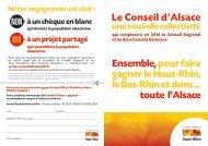 Le Conseil d'Alsace Ensemble, pour faire gagner le Haut-Rhin, le ...