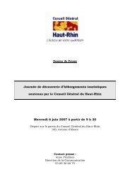 Dossier de presse - Conseil Général du Haut-Rhin