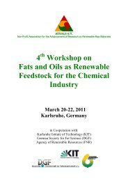 4 Workshop on Fats and Oils as Renewable Feedstock for the ...