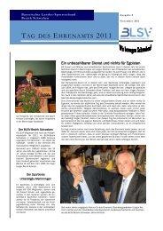 TAG DES EHRENAMTS 2011 - Bayerischer Landes-Sportverband e.V.