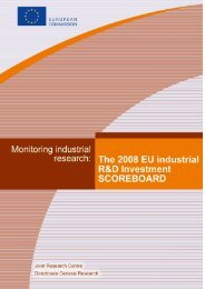 The 2008 EU Industrial R&D Investment Scoreboard ... - IRI - Europa
