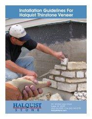 Installation Guidelines For Halquist Thinstone Veneer