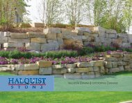 WALLSTONE PAVING OUTCROPPING SIGNAGE