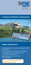 Programm: 10. März 2009 - BME