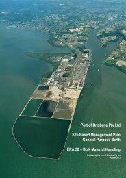 General Purpose Berth Site Based Management ... - Port of Brisbane