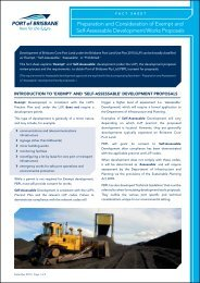 Preparation and Consideration of Exempt and Self ... - Port of Brisbane