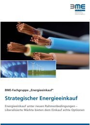 Strategischer Energieeinkauf - BME