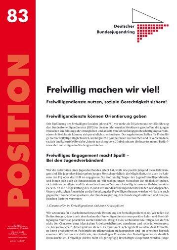 Freiwillig machen wir viel! - Deutscher Bundesjugendring