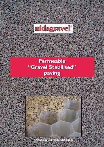 """Permeable """"Gravel Stabilised"""" paving"""