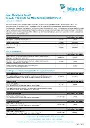 blau Mobilfunk GmbH blau.de Preisliste für Mobilfunkdienstleistungen