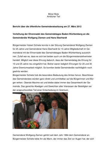 27.03.2012 - in Bitz