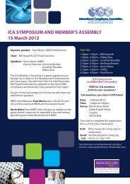 ICA SYMPOSIUM AND MEMBER'S ASSEMBLY 15 March 2012