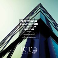 PROFESSIONAL QUALIFICATIONS TO GIVE YOU THE EDGE